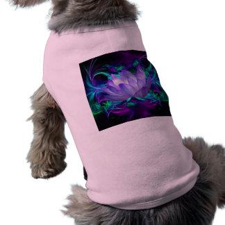 Flor de loto púrpura y su significado playera sin mangas para perro
