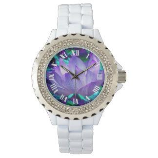 Flor de loto púrpura y su significado relojes de pulsera
