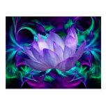 Flor de loto púrpura y su significado tarjeta postal