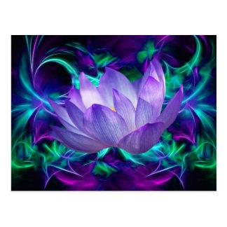 Flor de loto púrpura y su significado postal