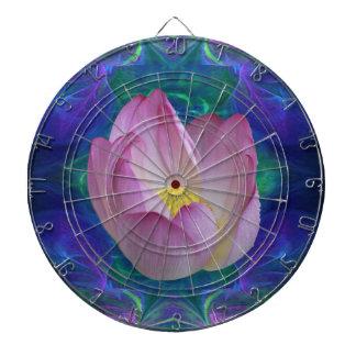 Flor de loto rosada tabla dardos