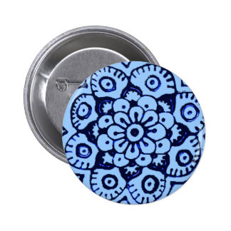 Flor de Lotus alheña azul Pins