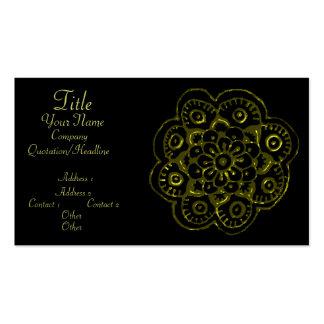 Flor de Lotus (alheña) (oro) Tarjetas De Visita