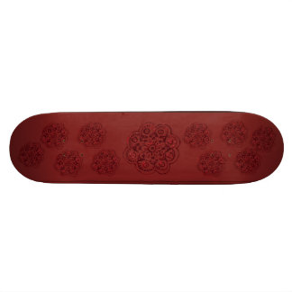"""Flor de Lotus (alheña) (rojo) Patineta 7 1/8"""""""