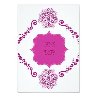Flor de Lotus (alheña) (rosa) Invitacion Personalizada