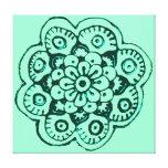Flor de Lotus (alheña) (trullo) Impresiones De Lienzo