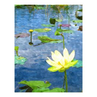 Flor de Lotus amarilla Membrete