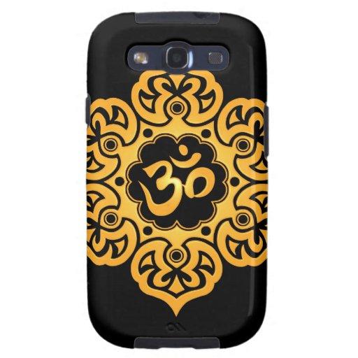 Flor de Lotus amarilla y negra OM Samsung Galaxy S3 Cobertura