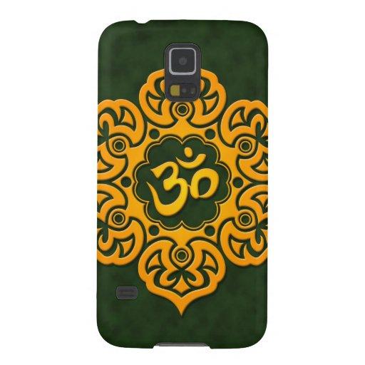 Flor de Lotus amarilla y verde OM Carcasas Para Galaxy S5