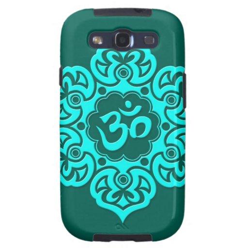 Flor de Lotus azul del trullo OM Galaxy S3 Cobertura