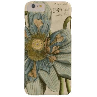 Flor de Lotus azul en fondo del moreno con la Funda Barely There iPhone 6 Plus