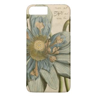 Flor de Lotus azul en fondo del moreno con la Funda iPhone 7 Plus