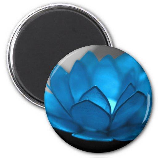Flor de Lotus azul Iman De Frigorífico