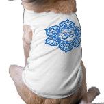 Flor de Lotus azul OM Camisas De Mascota