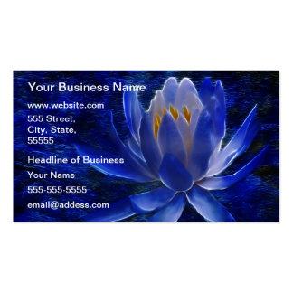 Flor de Lotus azul Tarjeta De Visita
