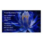Flor de Lotus azul Tarjetas De Visita