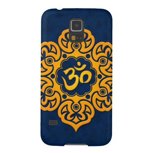 Flor de Lotus azul y amarilla OM Carcasa De Galaxy S5