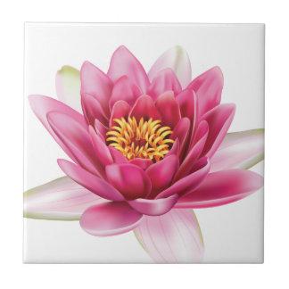 Flor de Lotus Azulejo Cuadrado Pequeño