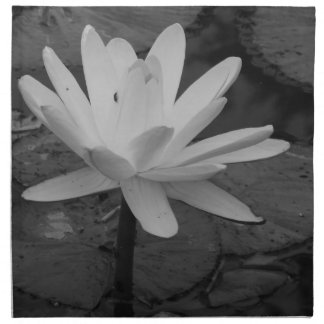 Flor de Lotus B/W Servilleta