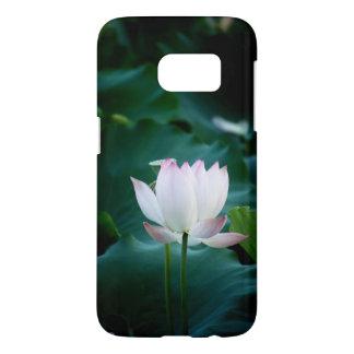 Flor de Lotus blanco elegante Funda Samsung Galaxy S7