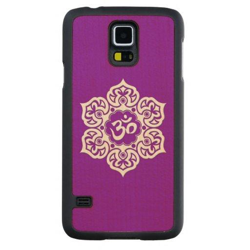 Flor de Lotus blanco OM en púrpura Funda De Galaxy S5 Slim Arce