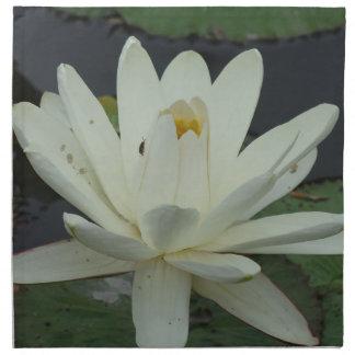 Flor de Lotus blanco Servilletas Imprimidas