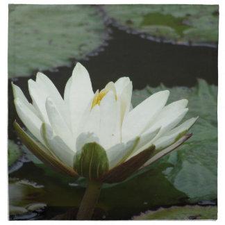 Flor de Lotus blanco Servilleta Imprimida