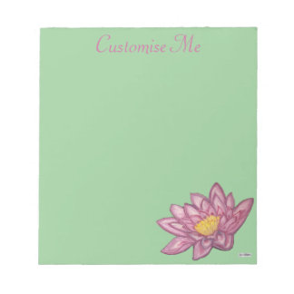 Flor de Lotus (cojín de lirio) Bloc De Notas