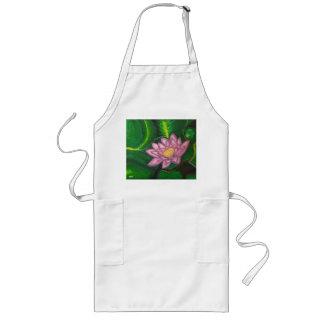 Flor de Lotus (cojín de lirio) Delantal Largo