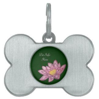 Flor de Lotus (cojín de lirio) Placas Mascota