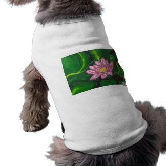 Flor de Lotus (cojín de lirio) Playera Sin Mangas Para Perro