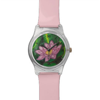 Flor de Lotus (cojín de lirio) Relojes De Mano