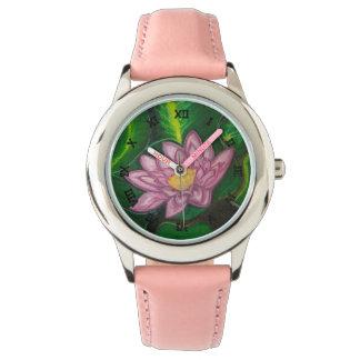 Flor de Lotus (cojín de lirio) Relojes De Pulsera