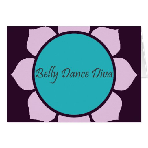 Flor de Lotus de la diva de la danza de Belly Tarjetas