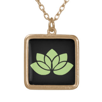 Flor de Lotus de la verde lima Colgante Personalizado