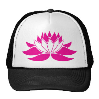 Flor de Lotus de las rosas fuertes Gorro De Camionero
