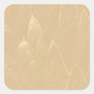 Flor de Lotus de oro adhesiva Escribir-EN la Pegatina Cuadrada
