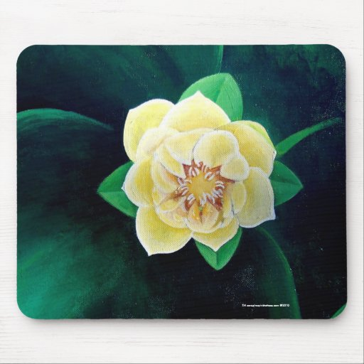 Flor de Lotus de oro Mousepad