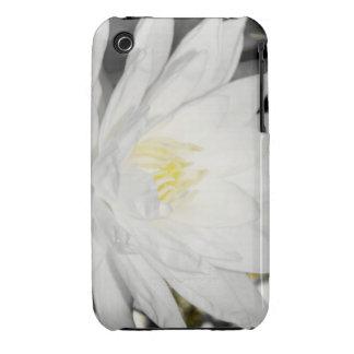 Flor de Lotus del agua blanca iPhone 3 Case-Mate Cárcasas