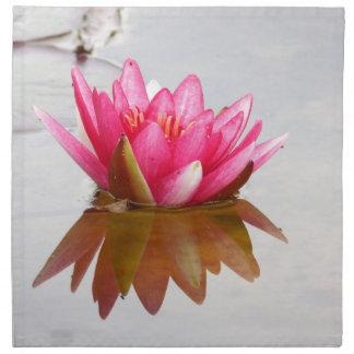 Flor de Lotus del amor Servilleta De Papel