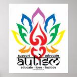 Flor de Lotus del autismo Posters