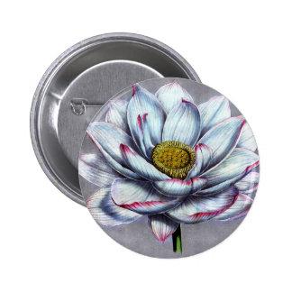 Flor de Lotus del indio de Botanicals del vintage Pin