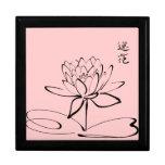 Flor de Lotus del zen Joyero Cuadrado Grande