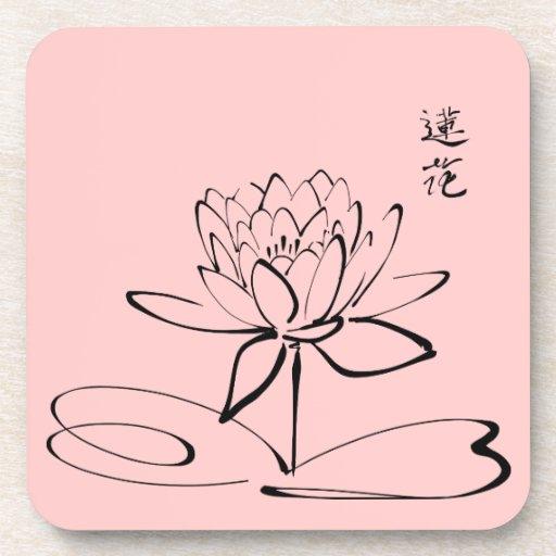 Flor de Lotus del zen Posavasos De Bebida