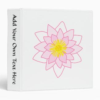 """Flor de Lotus elegante Carpeta 1 1/2"""""""