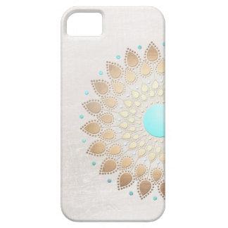 Flor de Lotus elegante de la mirada de la hoja de iPhone 5 Carcasa