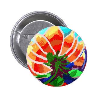 Flor de LOTUS - extracto artístico Pin Redondo 5 Cm
