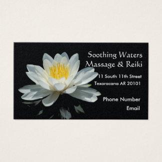 Flor de Lotus flotante Tarjetas De Visita