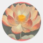 Flor de Lotus, Lilypad, símbolo del budista del Pegatina Redonda