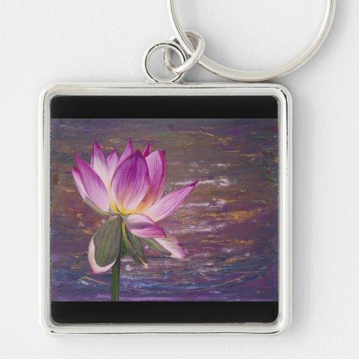 Flor de Lotus Llaveros Personalizados
